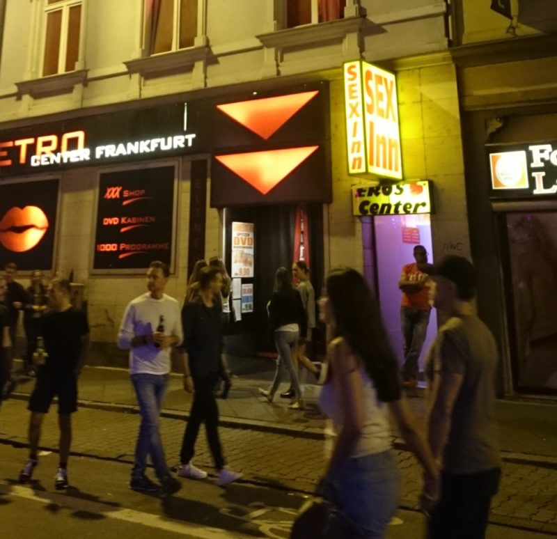 "A brothel tour during Frankfurt's ""Bahnhofsviertelnacht"" – the annual celebration of Frankfurt's red light district – What counts as ""information"" on prostitution in Frankfurt."