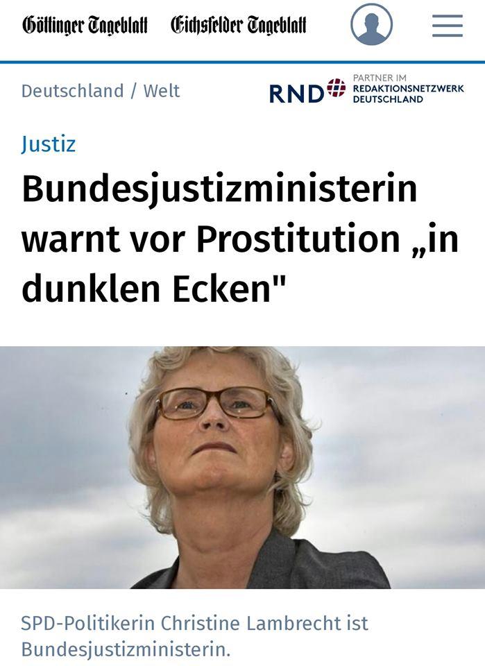 """""""Wenn wir das Nordische Modell einführen, wandert Prostitution in den Untergrund"""" – eine kleine Aufklärung"""